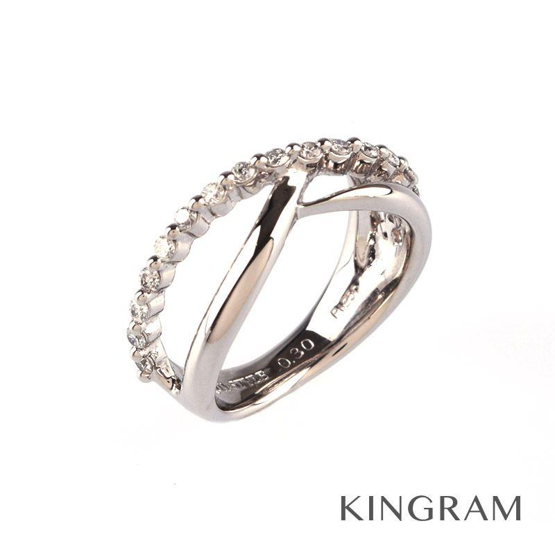 ノーブランド NO BRAND リング K18WG(750) ダイヤ 0.3ct #10 クリーニング済 te【中古】