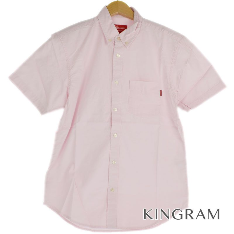 シュプリーム Supreme OXOXFORD オックスフォード 半袖シャツ サイズS 半タグ付 ピンク コットン100% メンズ シャツ rtk【中古】