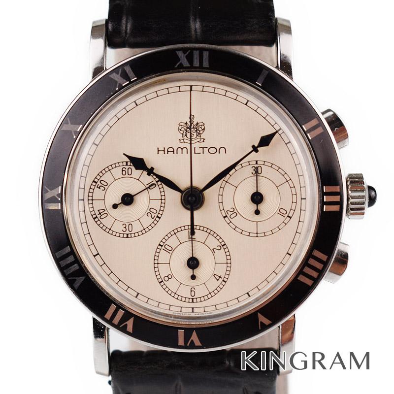 ハミルトン HAMILTON レマニア クロノグラフ 手巻き メンズ腕時計 fc 【中古】