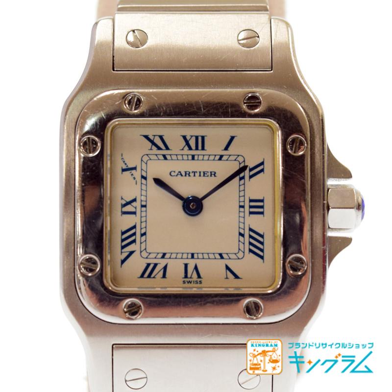 カルティエ Cartier サントスガルベSM W20056D6 レディース時計 クォーツ hiju 【中古】