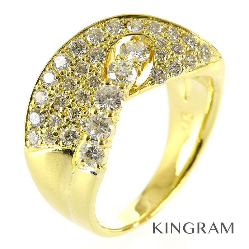 ノーブランド Generic items リング K18 ダイヤモンド 1.43ct クリーニング済み 12.5号 ko【中古】