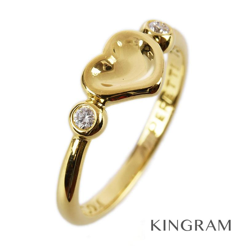 ティファニー TIFFANY&Co. リング K18YG(750) ダイヤモンド エルサ ペレッティ フルハート 11号 クリーニング済 ec【中古】
