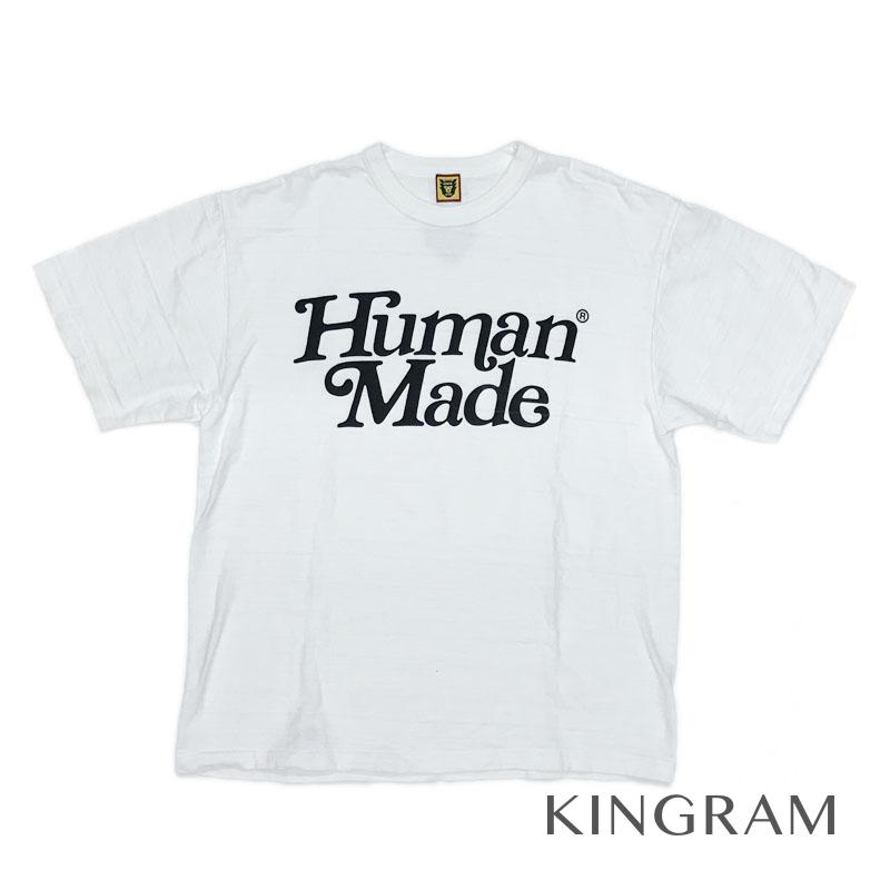 ヒューマンメイド HUMAN MADE GIRLS DON'T CRY ロゴTシャツ ホワイト コットン100% メンズトップス rsa【中古】