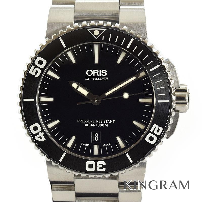 オリス ORIS アクイス デイト 7653-04 OH済 外装仕上げ済 自動巻 メンズ 腕時計 gi【中古】