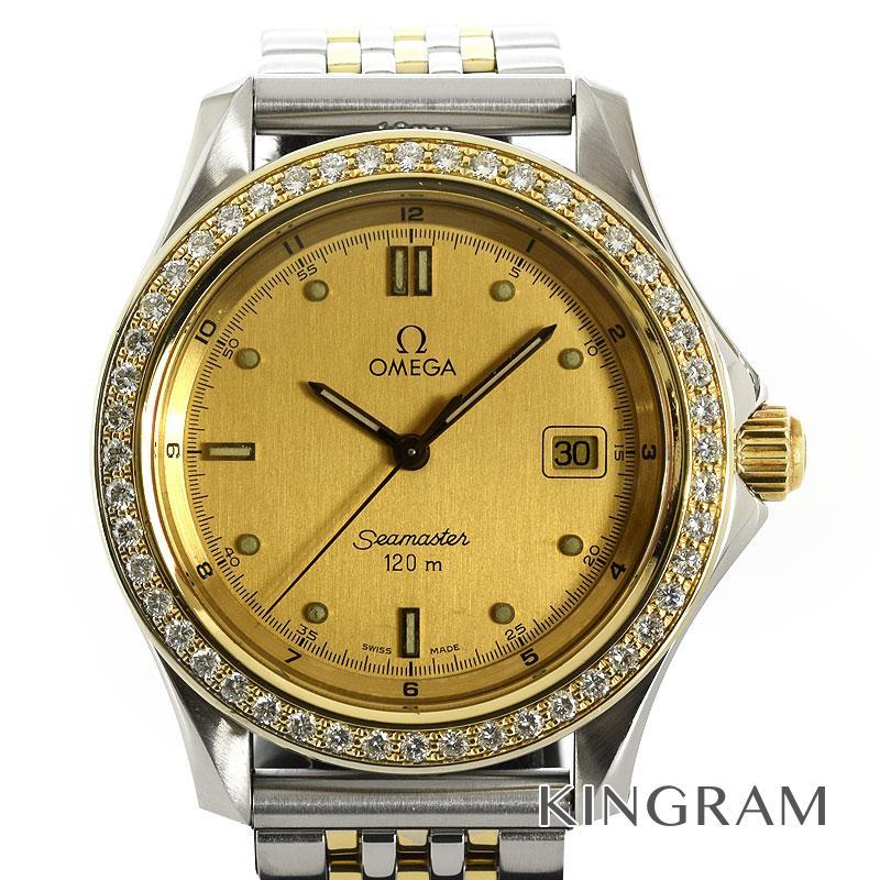 オメガ OMEGA シーマスター 120m ダイヤベゼル コンプリートサービス済 クォーツ メンズ 腕時計 kw【中古】