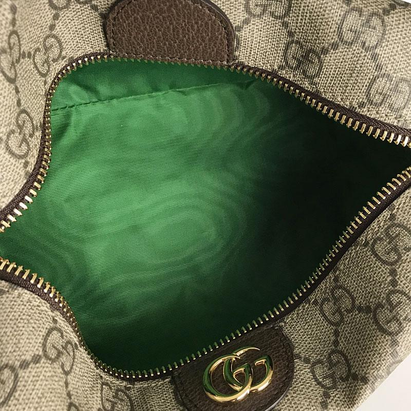 グッチ GUCCI オフィディア コスメティックケースGGスプリーム 548393 ベージュ×ブラウン×グリーン PVCレザー 化粧ポーチ ftoqpSMVzU