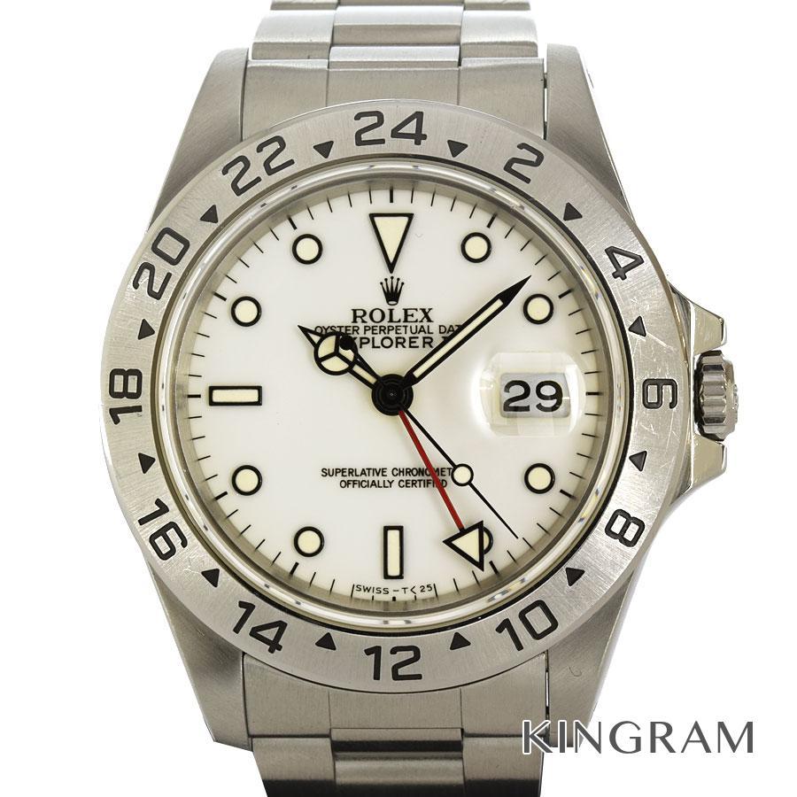 ロレックス ROLEX エクスプローラー2 16570 S番 OH済 自動巻 メンズ 腕時計 te【中古】
