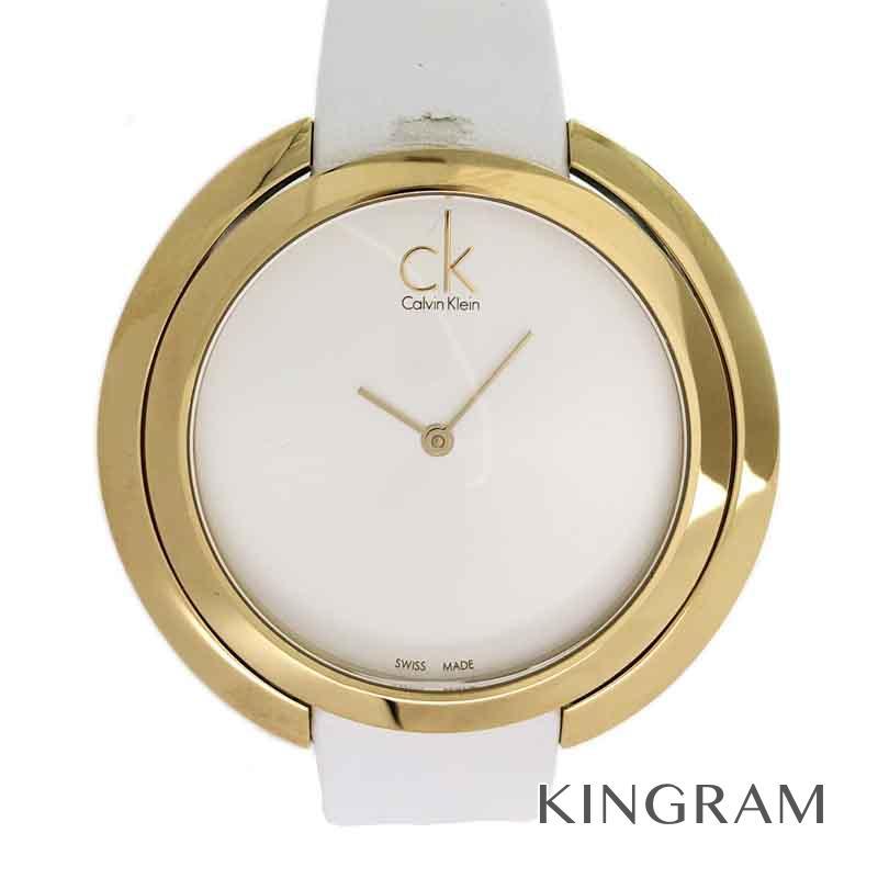 カルバンクライン Calvin Klein アグレゲート K3U235L6 アウトレット品 クォーツ レディース 腕時計 ec【中古】
