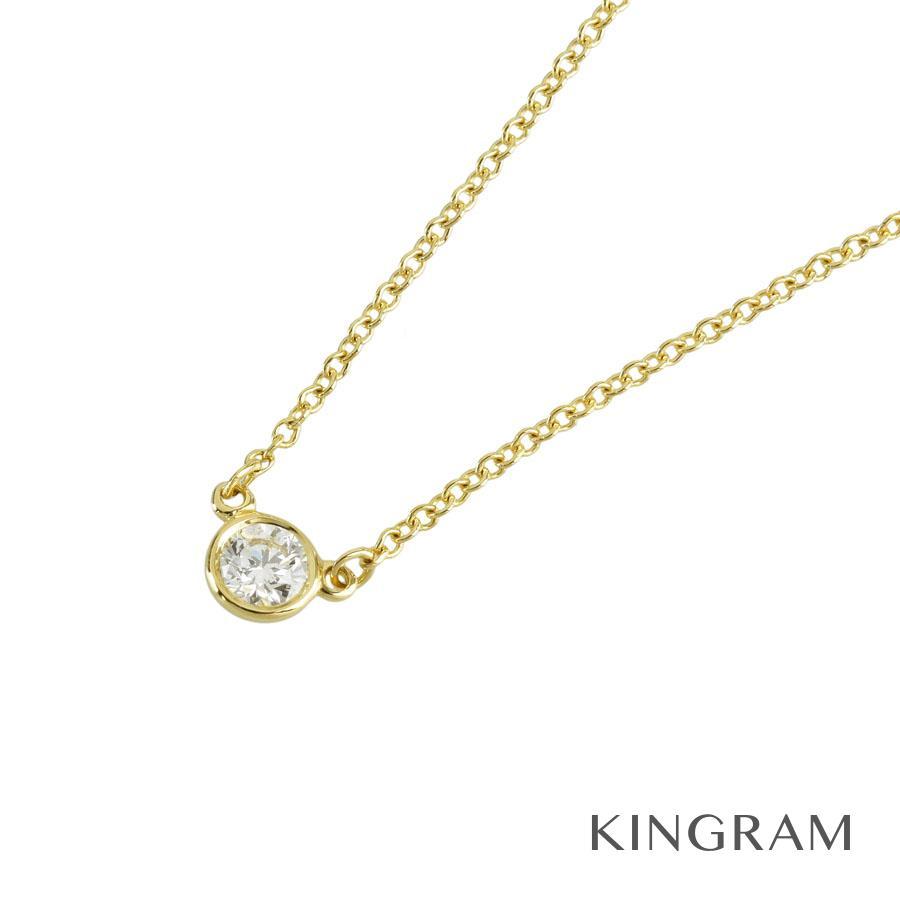 ティファニー TIFFANY&Co. バイザヤード ネックレス K18YG 1P ダイヤモンド fto【中古】