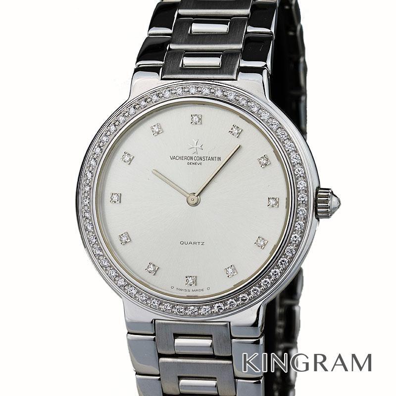 ヴァシュロン・コンスタンタン VACHERON CONSTANTIN 36575/170G-8 ベゼルダイヤ クォーツ メンズ 腕時計 ec【中古】
