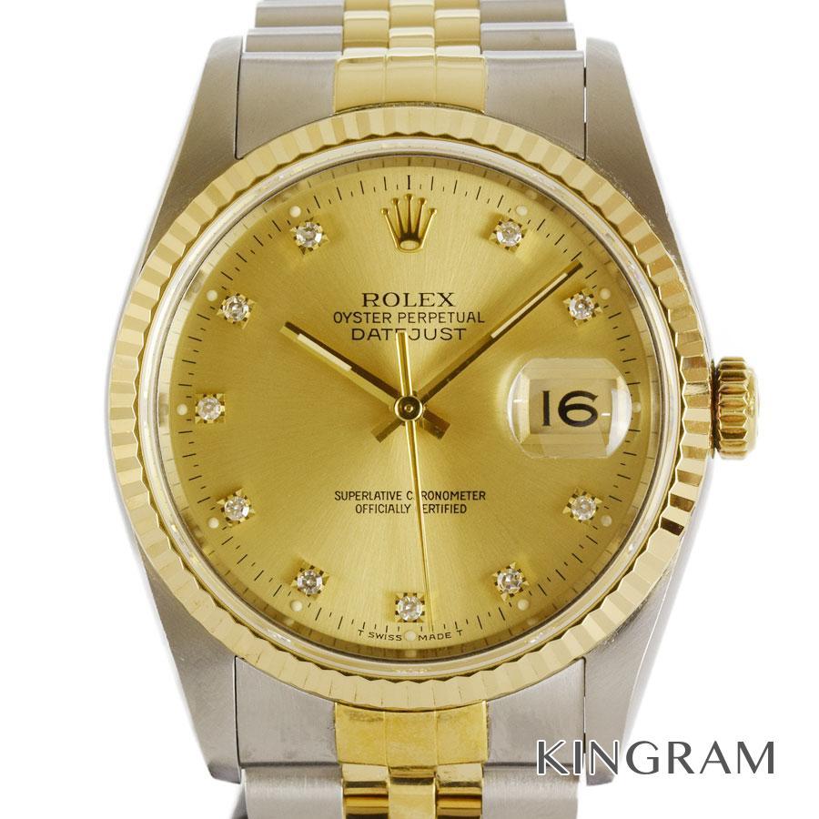 ロレックス ROLEX デイトジャスト 16233G L番 OH済 外装仕上げ済 自動巻 メンズ 腕時計 te【中古】
