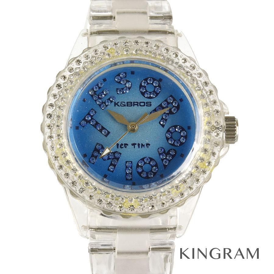 ケイエブロス K&BROS 9417J-3TM アイスタイム 未使用 クォーツ レディース 腕時計 ec【中古】