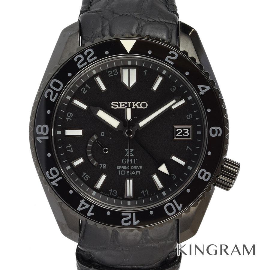 セイコー SEIKO プロスペック LX line GMT スプリングドライブ SBDB025 5R66-0BR0 ルクスライン 空 ブラックエディション 2019年7月新作 自動巻 メンズ 腕時計 fah【中古】
