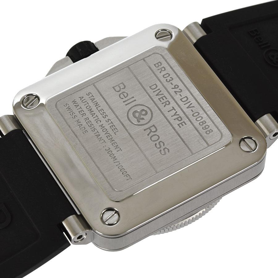 ベル ロス Bell Ross DIVER TYPE ダイバーBR03 92 DIV 替えベルト付 OH 仕上げ済み 自動巻メンズ 腕時計 ftjnwk0OP