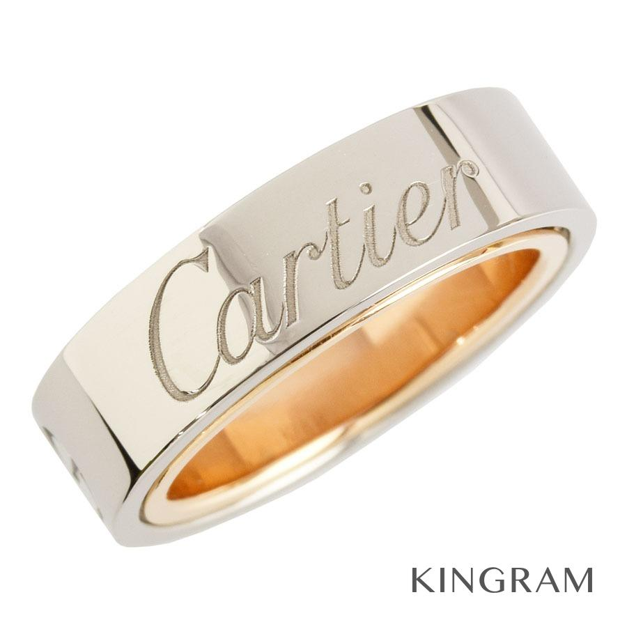 カルティエ CARTIER シークレットラブリング リング K18WG/PG 750  8号(48)クリーニング済 mi【中古】
