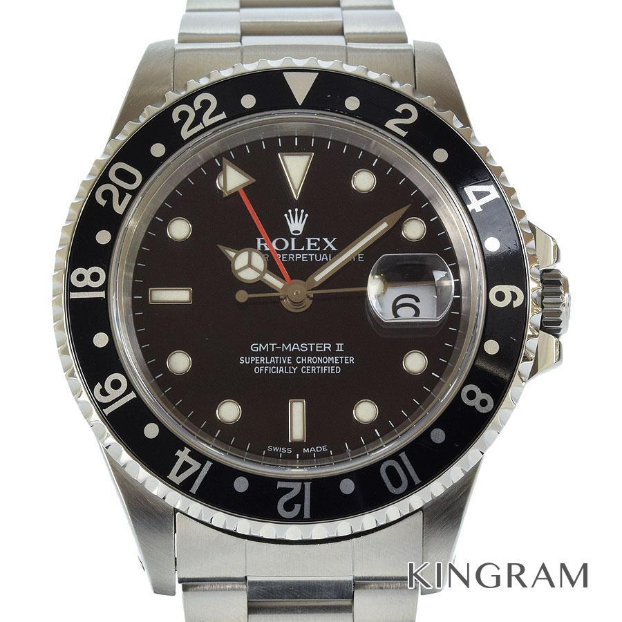 ロレックス ROLEX GMTマスター2 16710 OH済 外装仕上げ済 自動巻 メンズ 腕時計 as【中古】