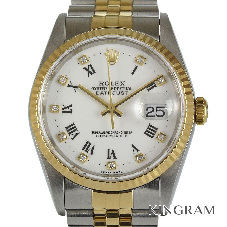 ロレックス ROLEX デイトジャスト 16233G W番 OH済 自動巻 メンズ 腕時計 as【中古】