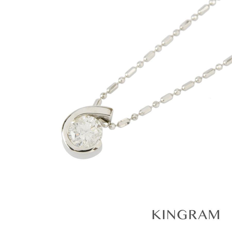 ノーブランド no brand ネックレス K18WG ダイヤモンド 0.50ct クリーニング済 hs【中古】