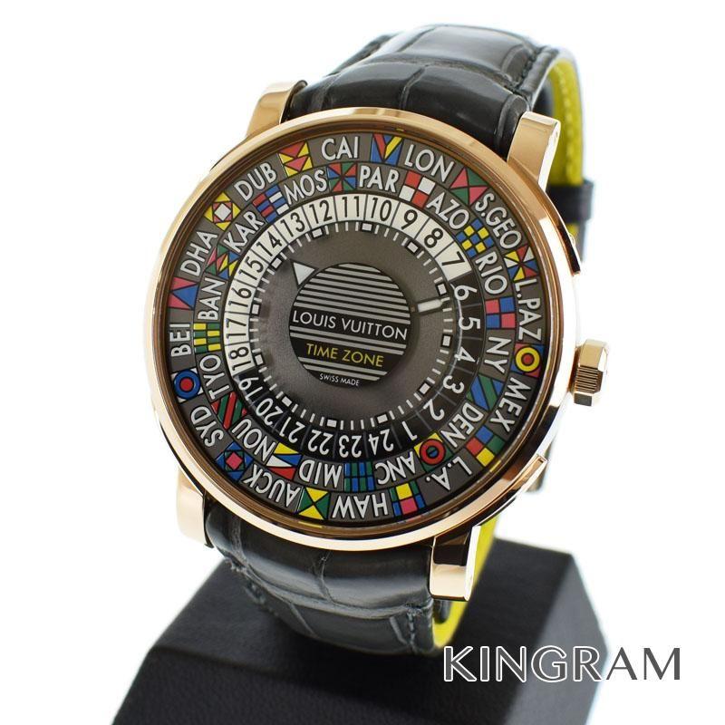 ルイ・ヴィトン LOUIS VUITTON エスカル・タイムゾーン  Q5EK4 自動巻 メンズ 腕時計 te【中古】