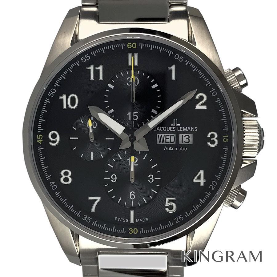 ジャックルマン JACQUES LEMANS 1-1750D リバプール クロノグラフ 自動巻 メンズ 腕時計 ec【中古】
