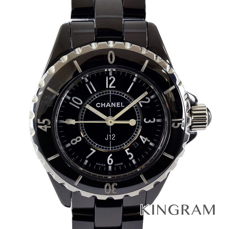 シャネル CHANEL J12 H0682 機械点検 電池交換済 クォーツ レディース 腕時計 te【中古】