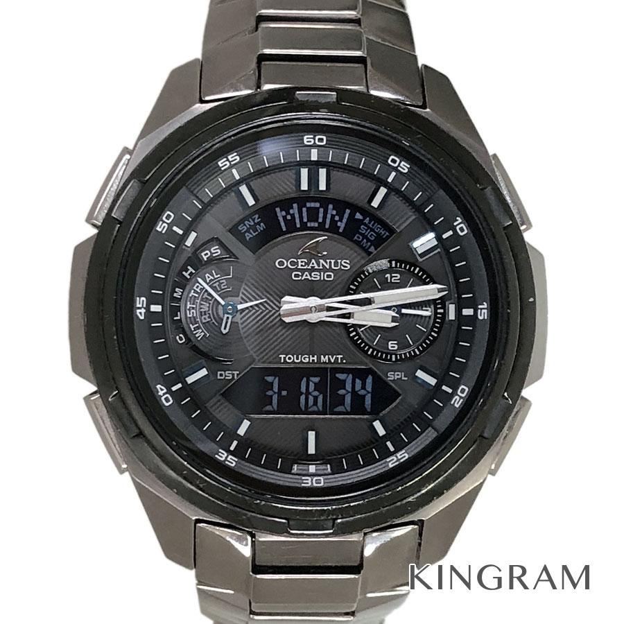 カシオ CASIO OCW-T410TD-1AJF ソーラー電波クォーツ メンズ 腕時計 rsn【中古】