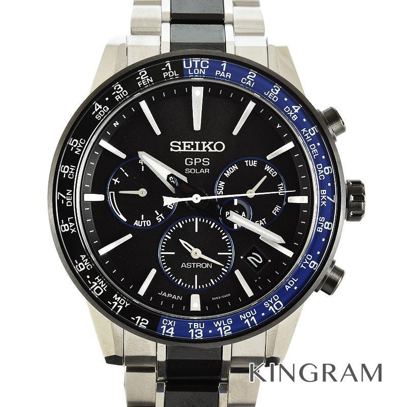 セイコー SEIKO アストロン GPS電波ソーラー ワールドタイム 5Xシリーズ SBXC009 ソーラークォーツ メンズ 腕時計 fah【中古】