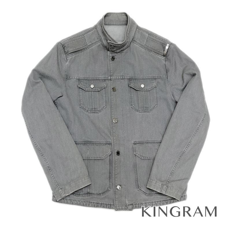 ルイ・ヴィトン LOUIS VUITTON デザインデニムジャケット サイズ46 グレー コットン100% メンズ アウター fah【中古】