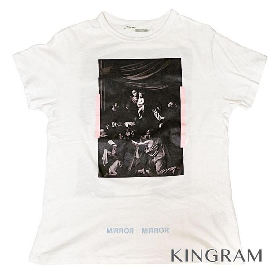 オフホワイト OFF-WHITE 2013 MAIN LABEL MIRROR MIRROR Tシャツ Sサイズ ホワイト コットン100% メンズトップス rsa【中古】