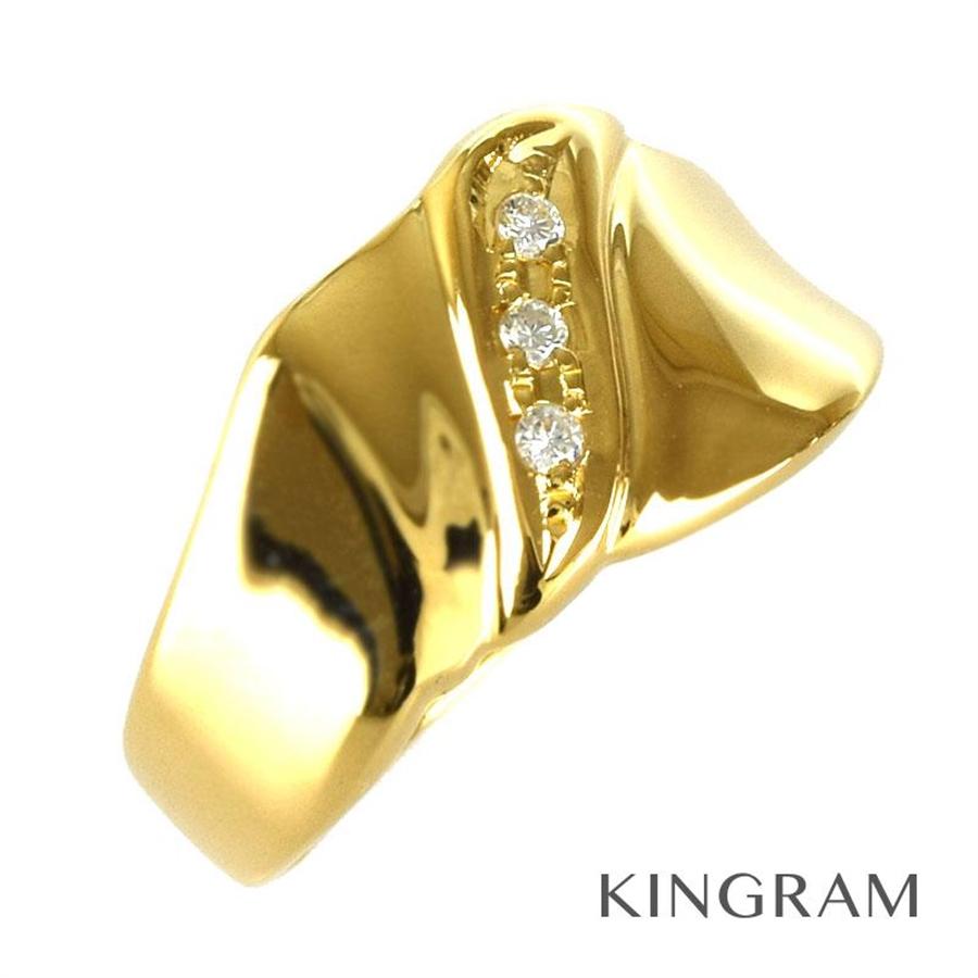ノーブランド Generic items リング K18 ダイヤモンド 0.04ct 6号(46) クリーニング済 ju【中古】