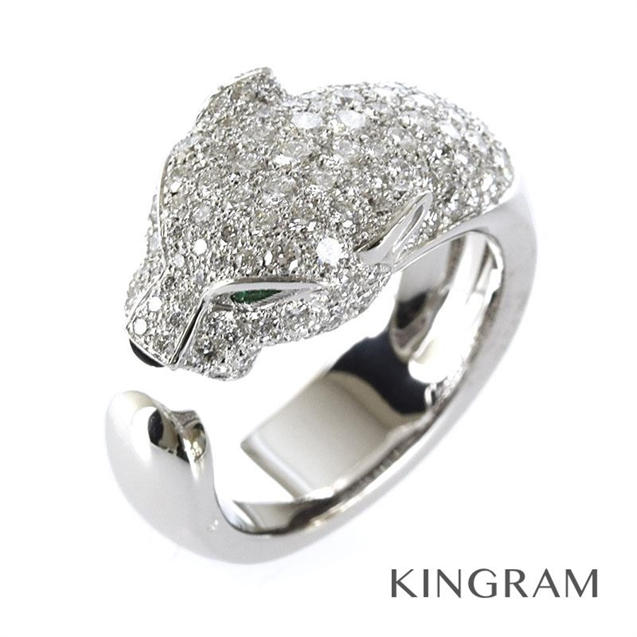 カルティエ CARTIER リング K18WG 750 ダイヤモンド エメラルド オニキス パンテール ドゥ カルティエ パンサー 11号(51) fc【中古】