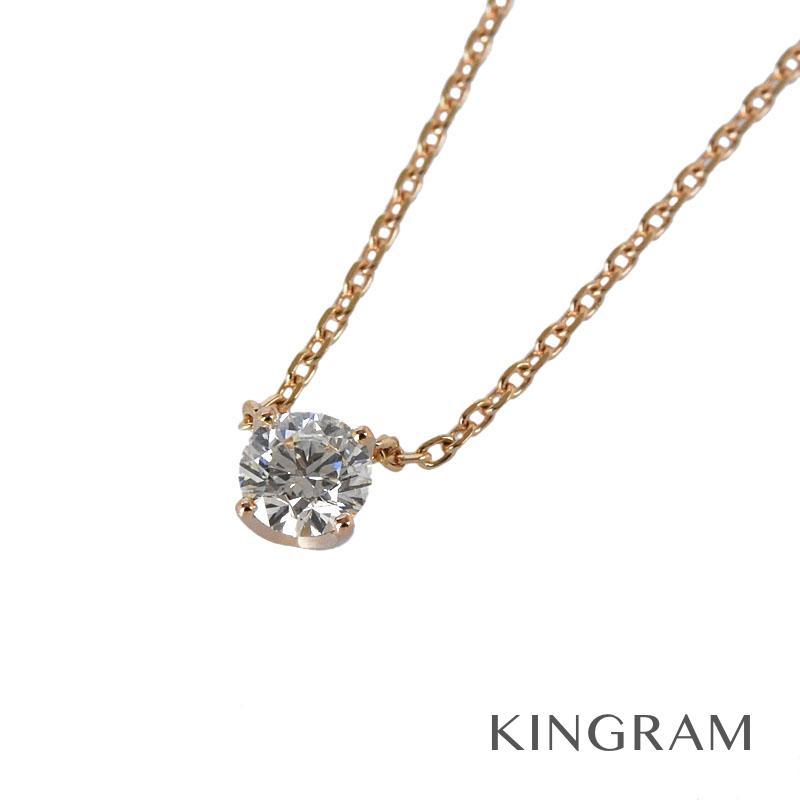 ヨンドシー 4℃ ネックレス K18PG 750 ダイヤモンド 0.168ct 1P 鑑定書付き クリーニング済 iz【中古】