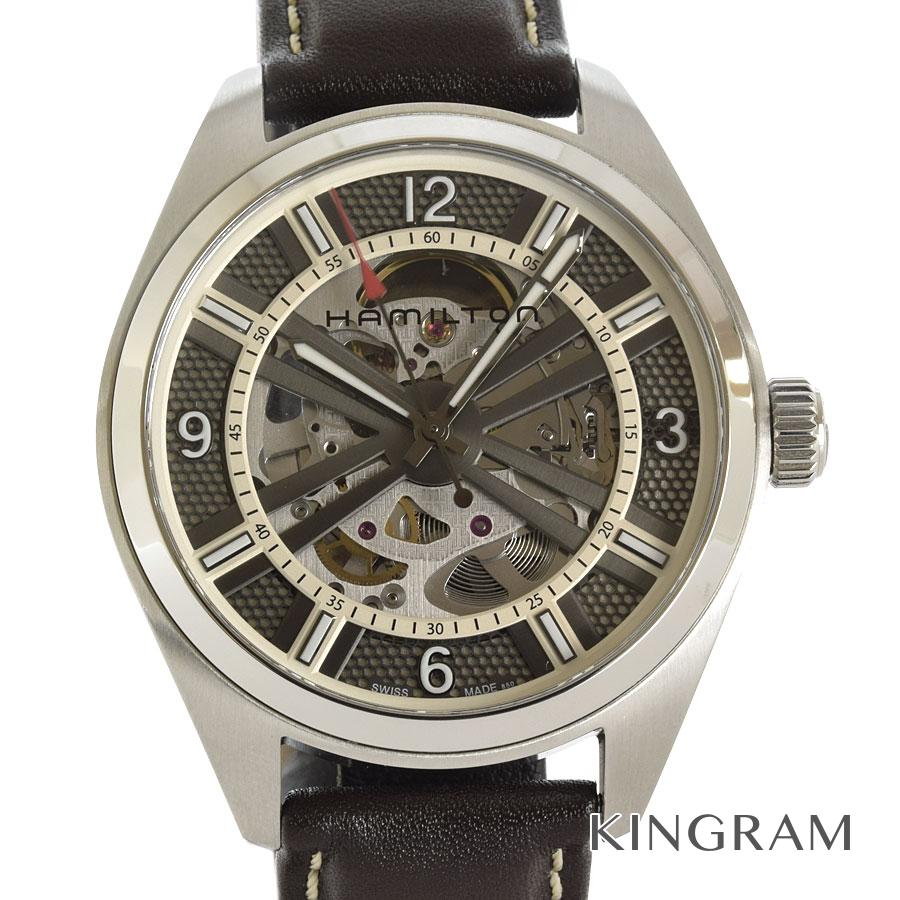 ハミルトン HAMILTON カーキフィールド オート スケルトン H725150 仕上げ済み 自動巻 メンズ 腕時計 fsk【中古】