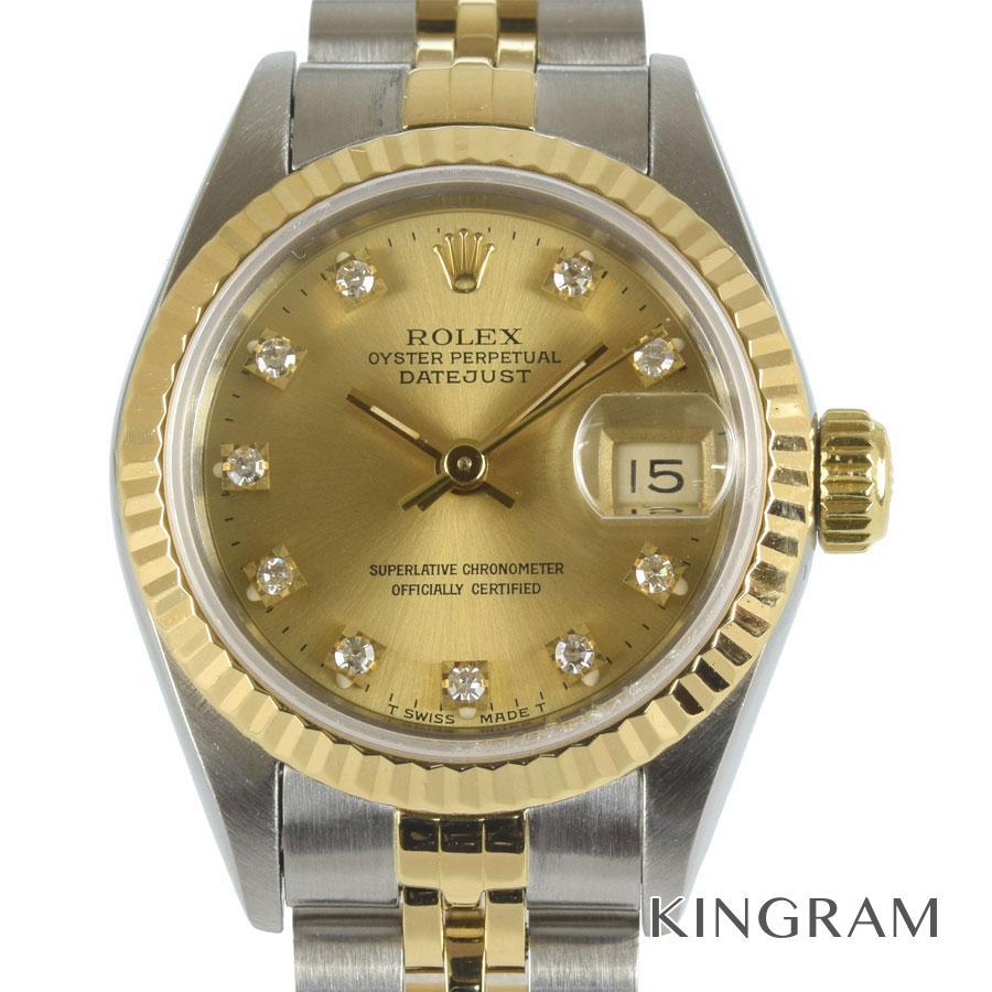 ロレックス ROLEX デイトジャスト 69173G X番 OH済 自動巻 レディース 腕時計 te【中古】