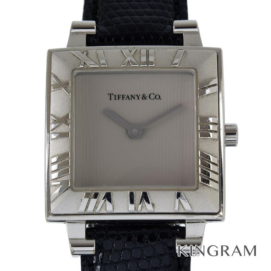 ティファニー TIFFANY&Co. アトラス スクエア 電池交換・機械点検済 クォーツ レディース 腕時計 kw【中古】
