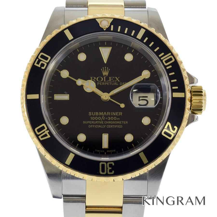 ロレックス ROLEX サブマリーナ コンビ 16613 P番 OH済 自動巻 メンズ 腕時計 te【中古】