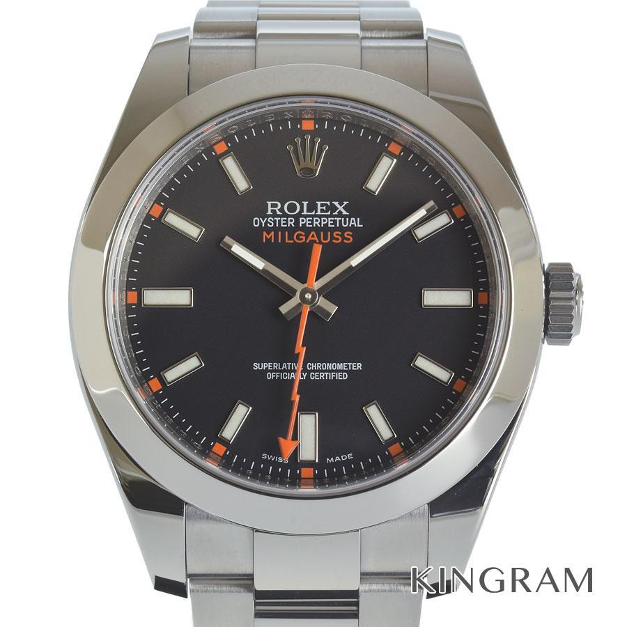 ロレックス ROLEX ミルガウス 116400 V番 OH済 自動巻 メンズ 腕時計 as【中古】