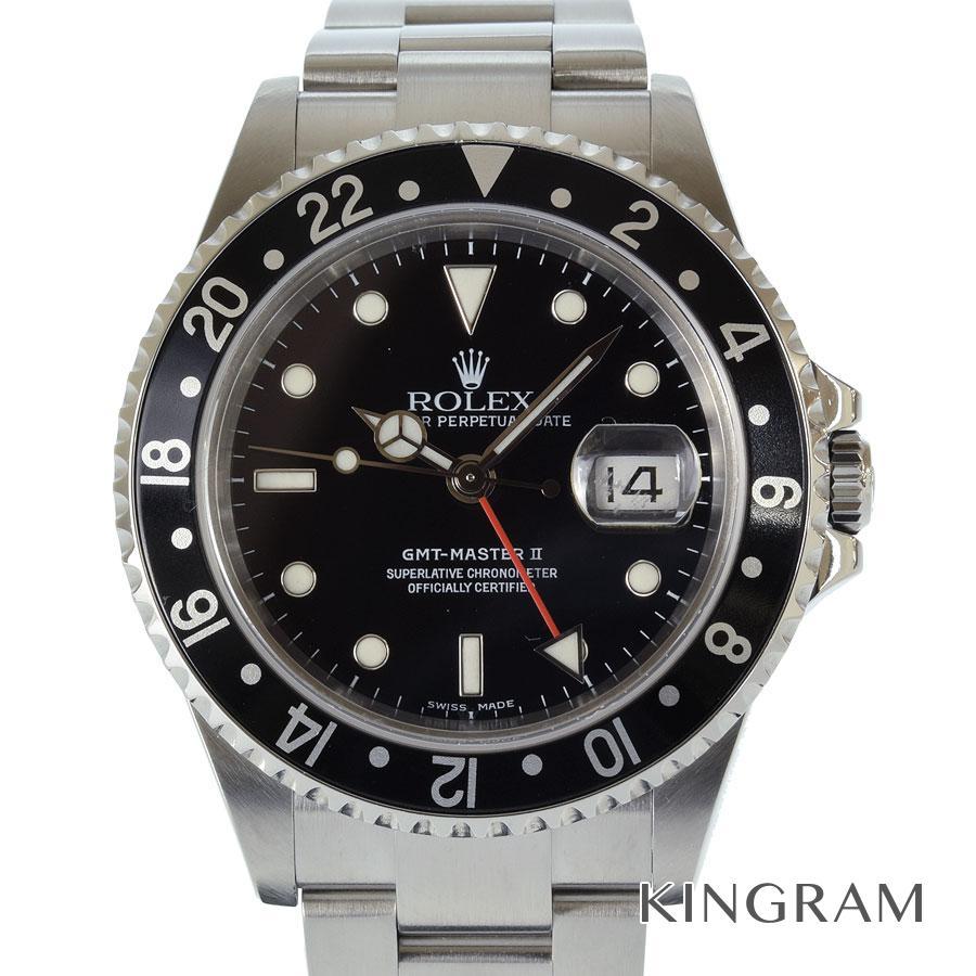ロレックス ROLEX GMTマスター2 16710 F番 OH済 外装仕上げ済 自動巻 メンズ 腕時計 te【中古】
