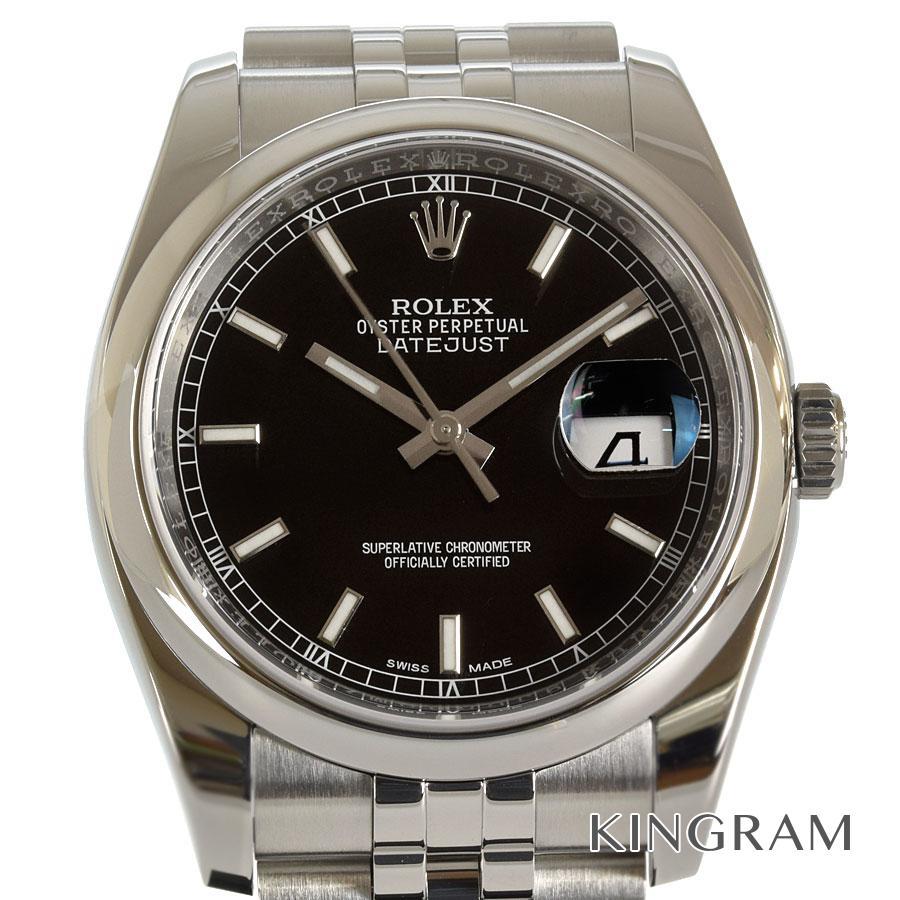 ロレックス ROLEX デイトジャスト 116200 ランダム ブラック文字盤 外装仕上げ済 自動巻 メンズ 腕時計 te【中古】