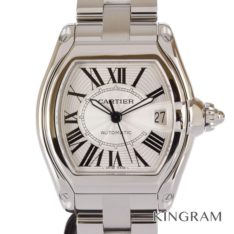 カルティエ CARTIER W62025V3 ロードスターLM OH済 外装仕上げ済 自動巻 メンズ 腕時計 as【中古】