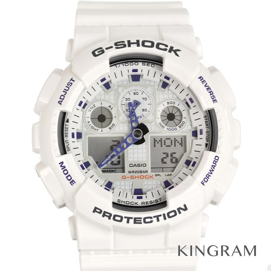 カシオ CASIO G-SHOCK GA100A-7A アウトレット クォーツ メンズ 腕時計 ec【中古】