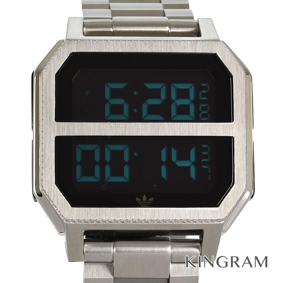 アディダス adidas Z211920 アーカイブ デジタル クォーツ メンズ 腕時計 rhr【中古】