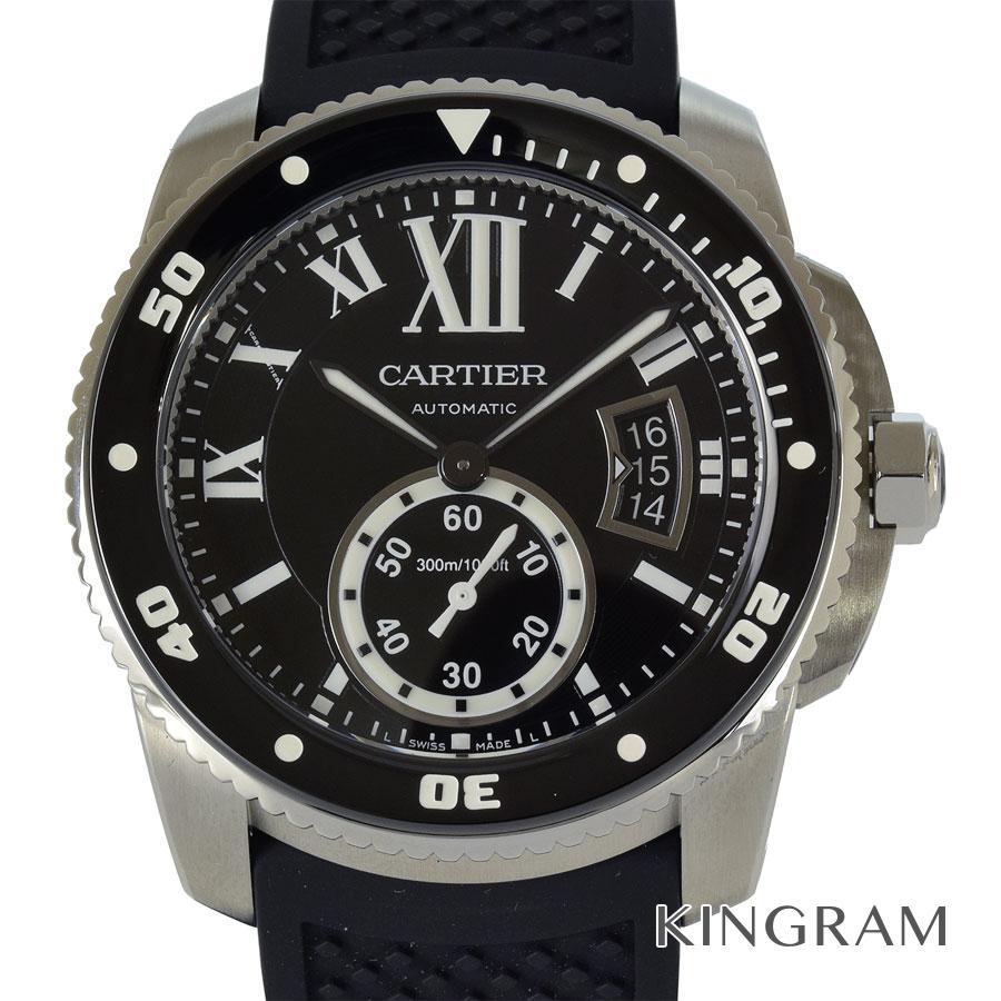 カルティエ CARTIER カリブル ドゥ カルティエ ダイバー W7100056 内部点検済み 自動巻 メンズ 腕時計 rke【中古】