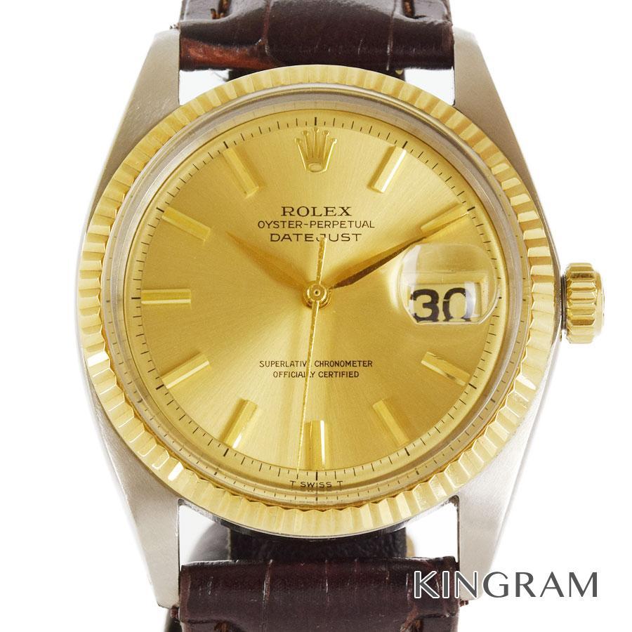 ロレックス ROLEX デイトジャスト 1601 OH済 社外製ベルト 自動巻 メンズ 腕時計 rsa【中古】