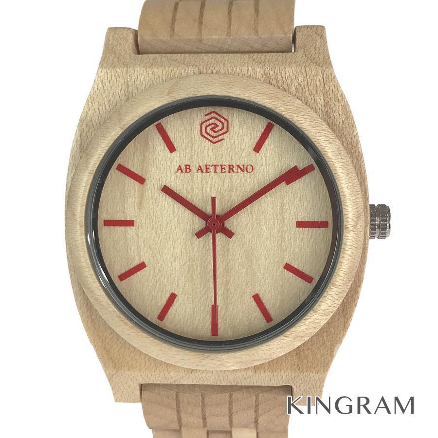 アバテルノ AB AETERNO 9825033 HORIZON COLLECTION メープルウッド クオーツ メンズ 腕時計 ec【中古】