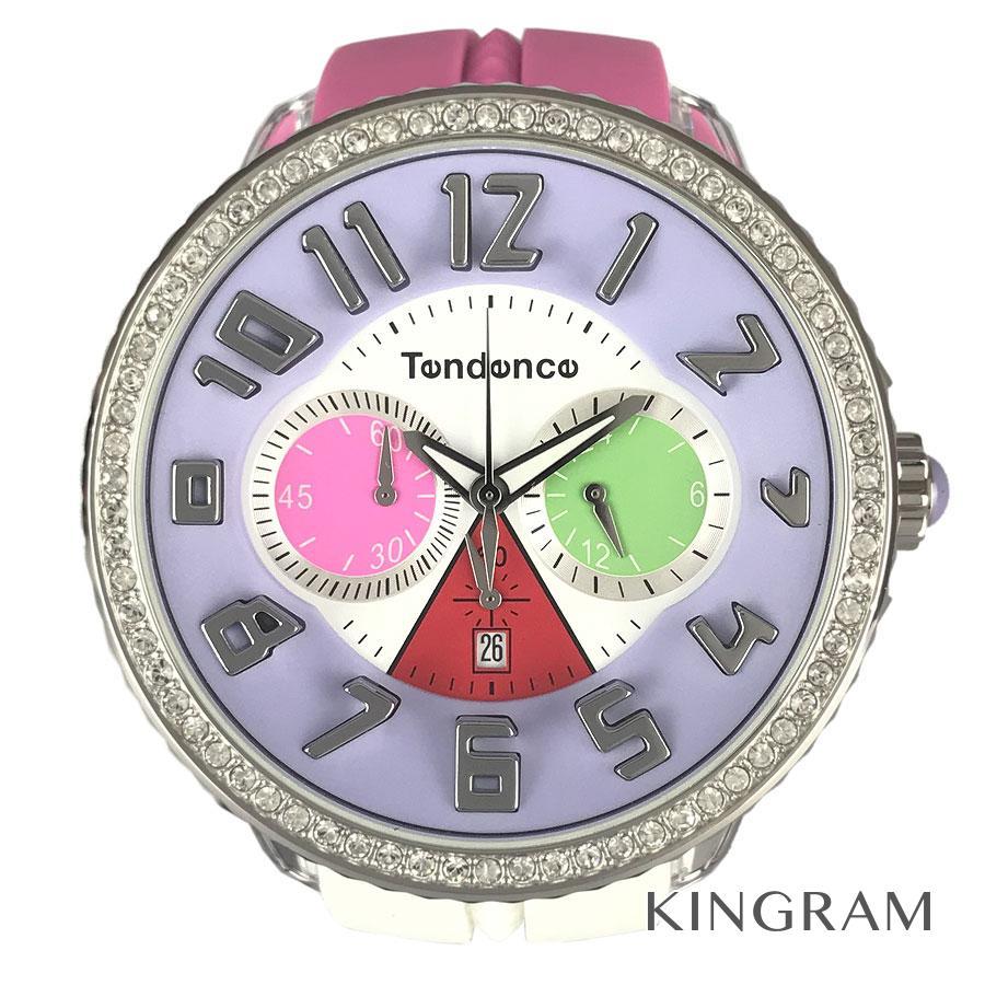 テンデンス Tendence TDT0460406 スワロフスキー クォーツ 未使用 メンズ 腕時計 ec【中古】