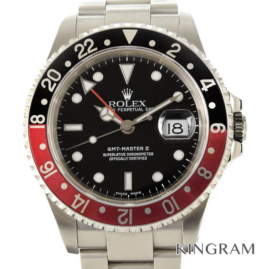 ロレックス ROLEX GMTマスター2 16710 A番 OH済 外装仕上げ済 自動巻 メンズ 腕時計 te【中古】