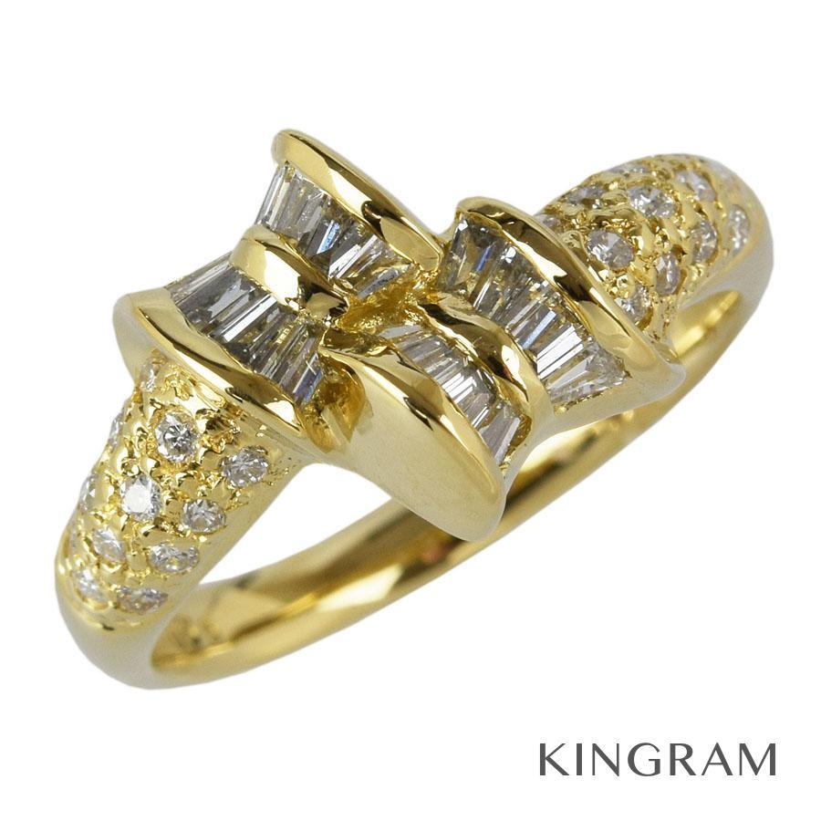 [サイズお直し対象商品] ノーブランド Generic items リング K18YG 750 ダイヤモンド 0.56ct 12号(クリーニング済) ku【中古】