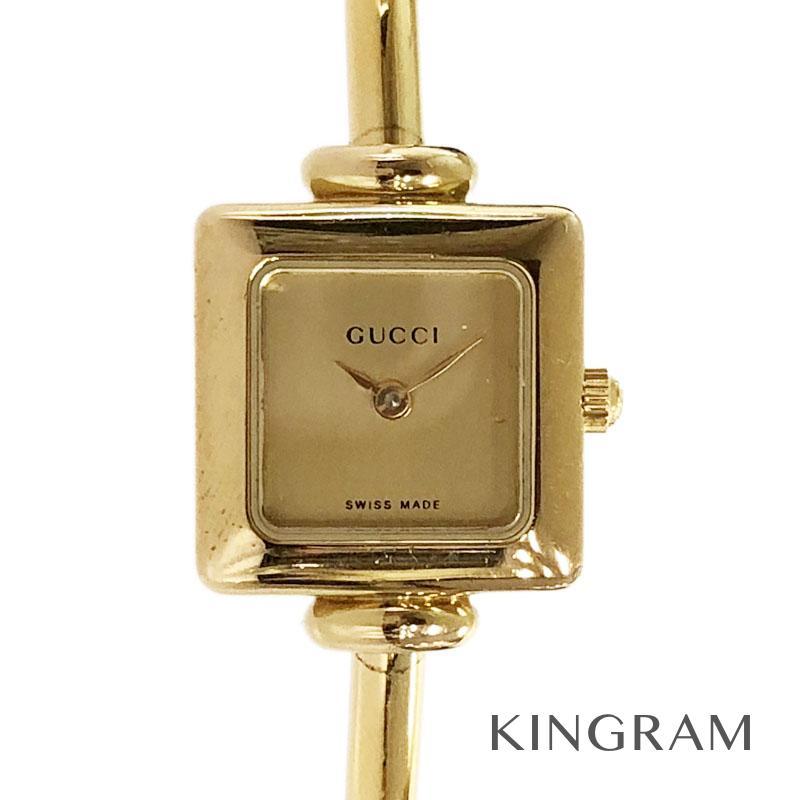 グッチ GUCCI 1900L ゴールド文字盤 ブレス クォーツ レディース 腕時計 kw【中古】