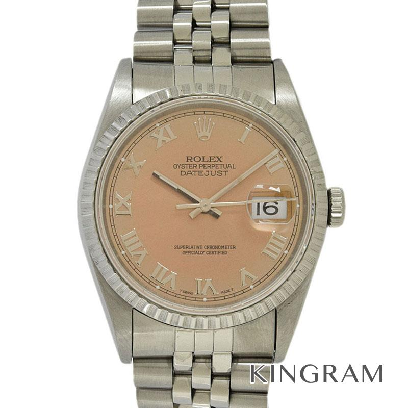 ロレックス ROLEX デイトジャスト 16220 S番 OH済 外装仕上げ済 自動巻 メンズ 腕時計 ros【中古】